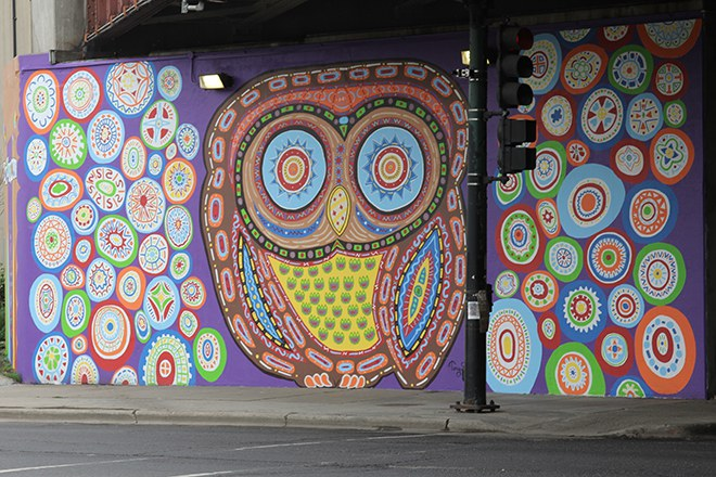 Colorful Owl Mural