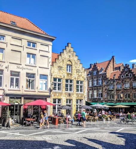 Cluster of famed restaurants off of the market square