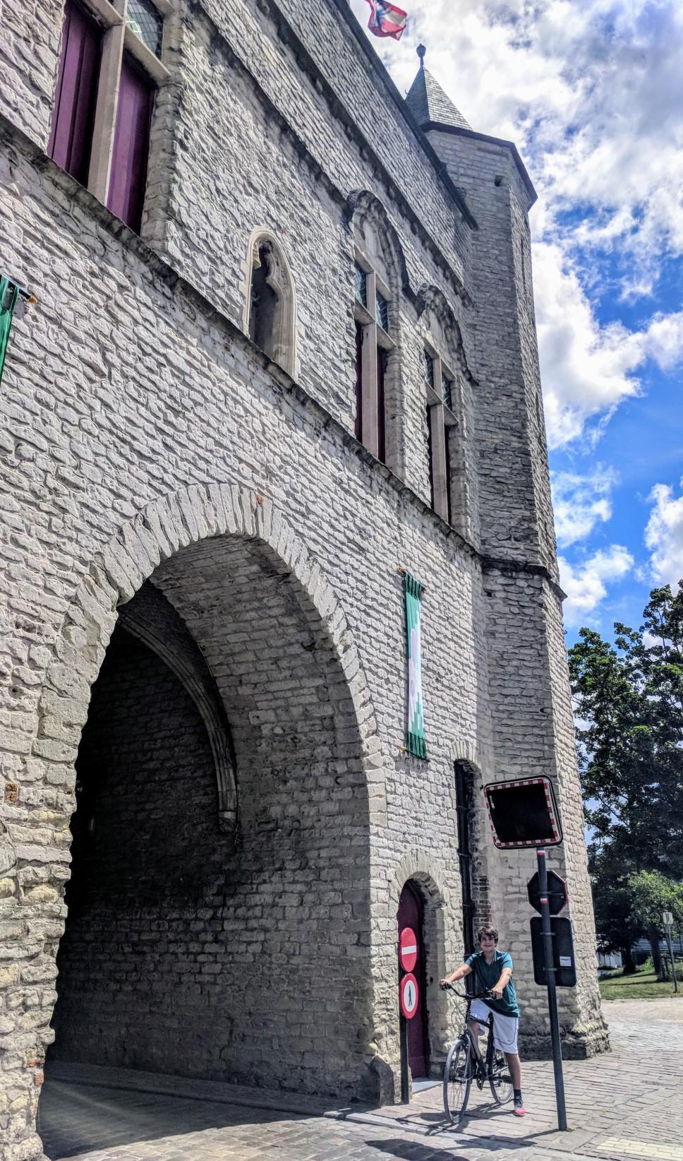 Preserved old city gateway to Bruges