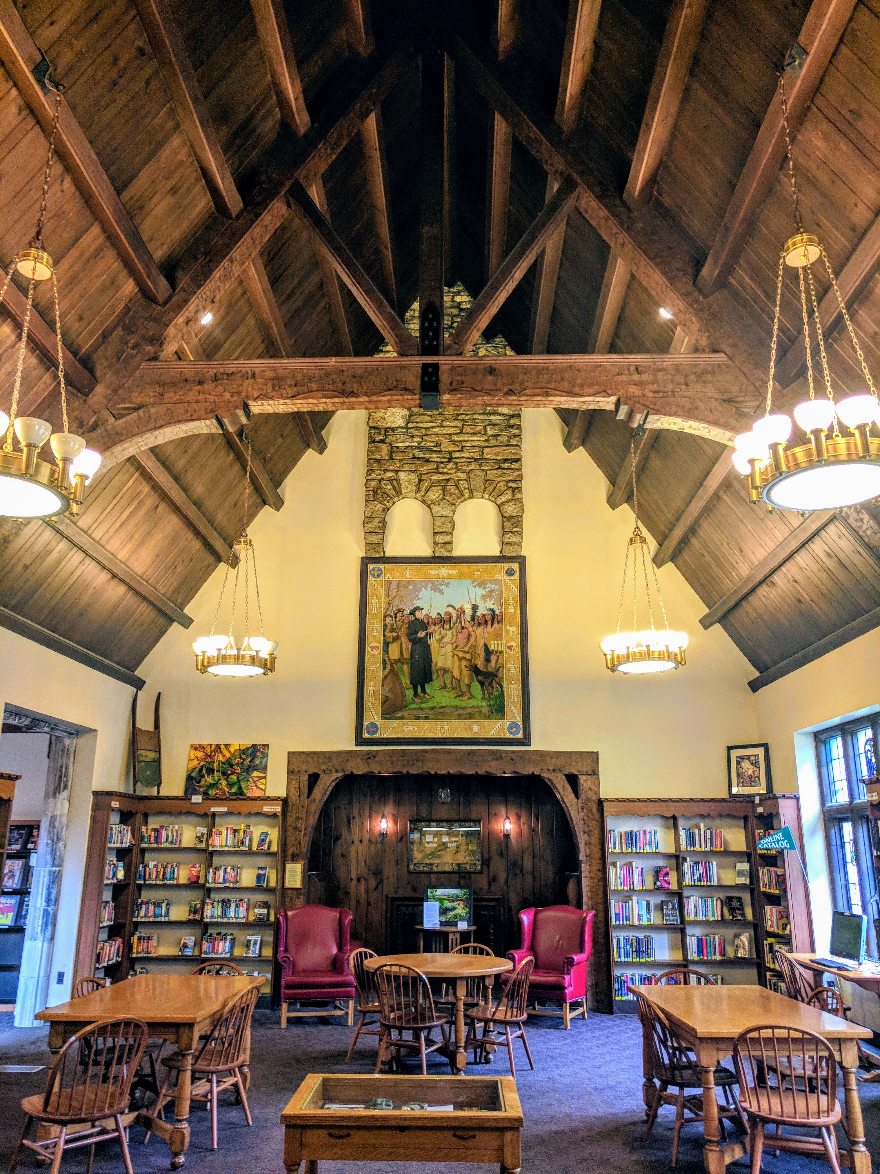 The local library in Riverside, Illinois