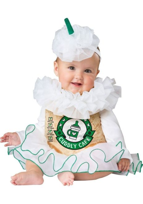 Cuddly coffee baby costume