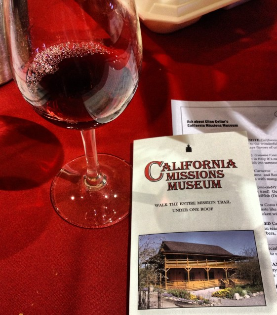 Wine tasting at Cline Cellars