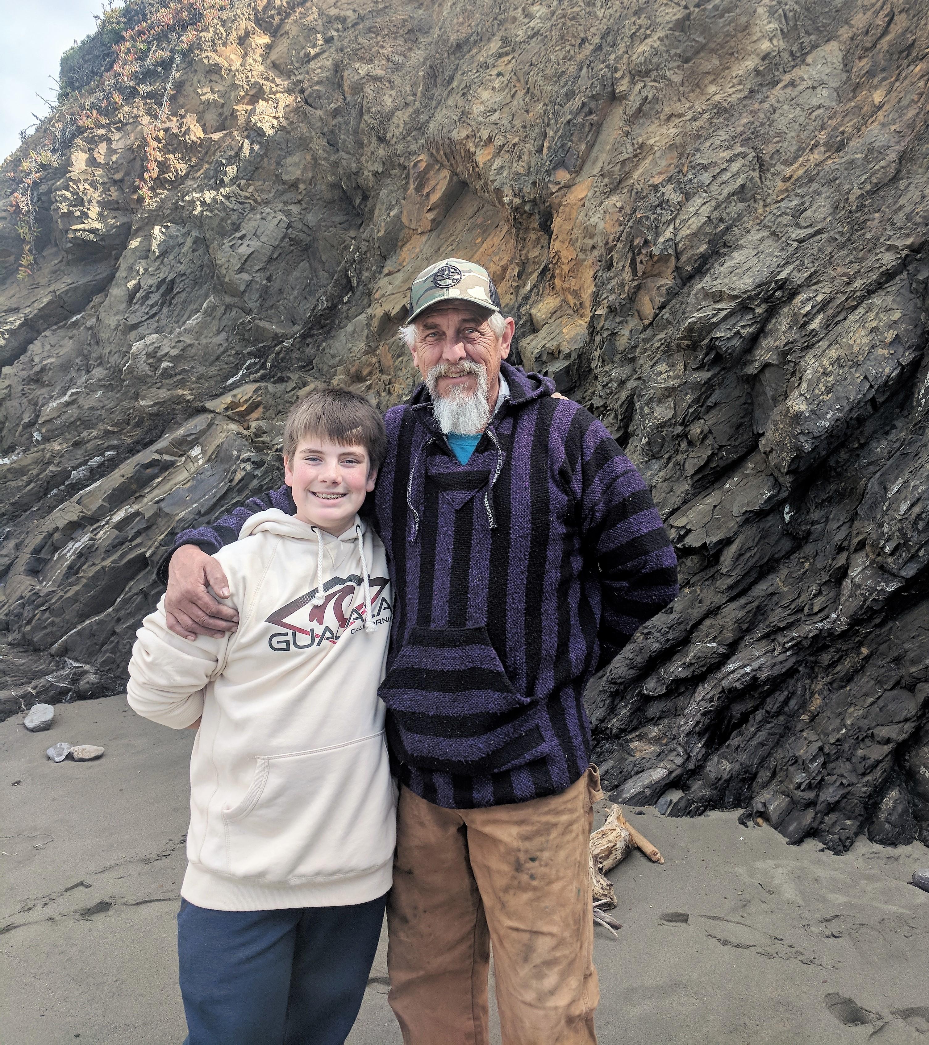 Dad and Chris at Sea Ranch, California