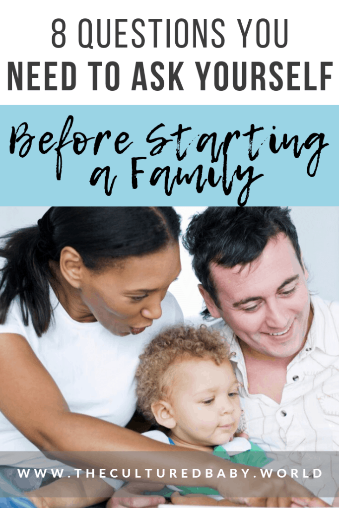 father and mother reading to child | questions to ask before starting a family