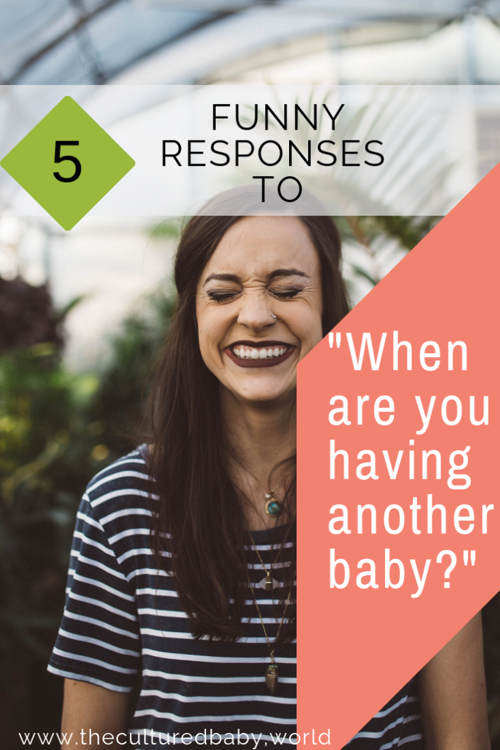 5 Snarky Responses to When Are You Having Another Baby #motherhood #fertility #family