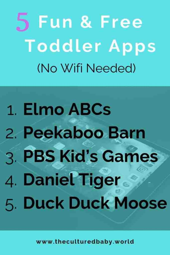 5 Fun & Free Toddler Apps (NO Wifi Needed)  ipad background