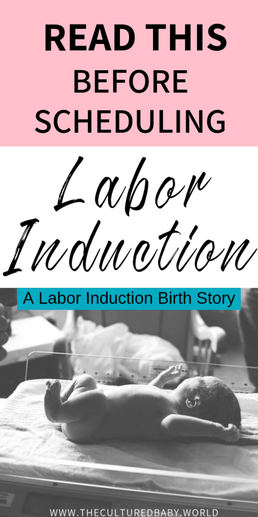 labor induction birth story | baby in hospital