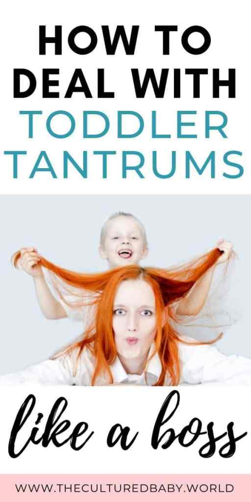 boy pulling on mom's hair | how to deal with toddler tantrums like a boss