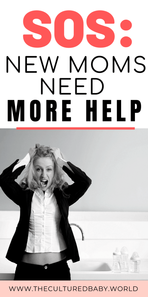 mother pulling out her hair | new moms need more support