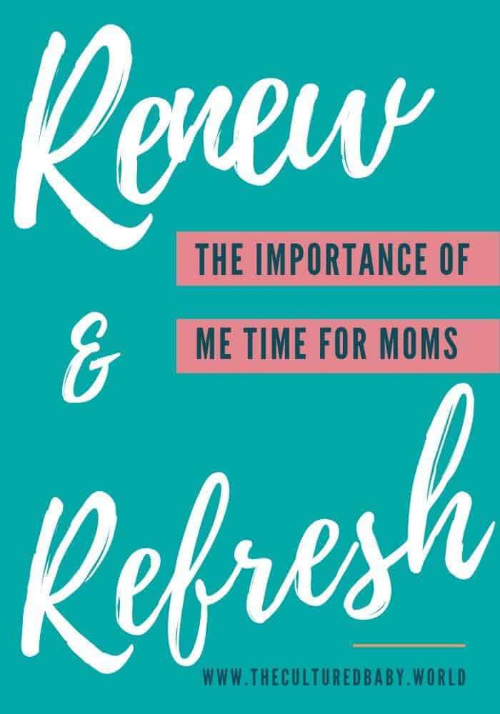 The importance of me time for moms