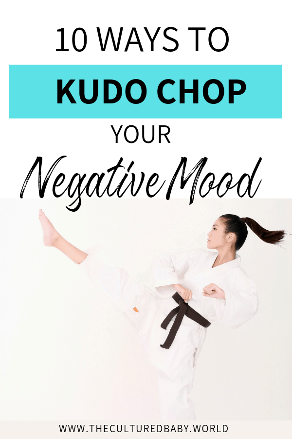 woman kicking in the air  | 10 ways to get rid of a bad mood