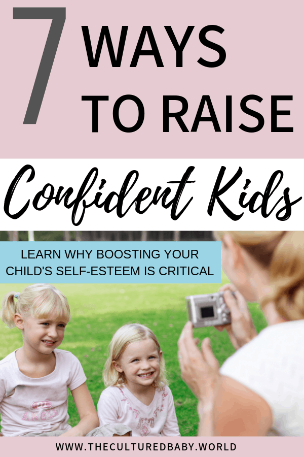mom taking a picture of her daughters | raising confidence in children