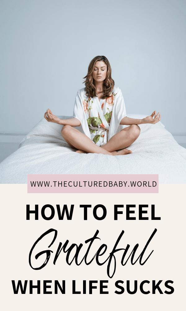 woman meditating | practicing gratitude
