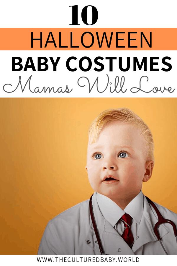 baby wearing a doctor uniform | baby's halloween costume