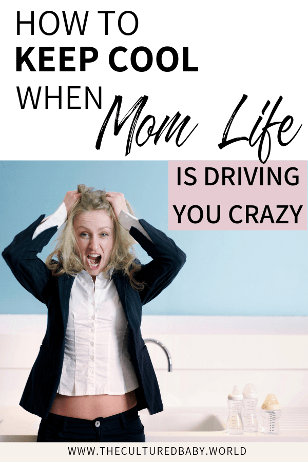 Woman shouting and pulling her hair out | How to Keep Cool When Mom Life is Driving You Crazy